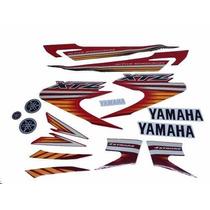 Kit Adesivos Yamaha Xtz 125 2008 Vermelha