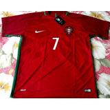 Camisa Seleção Portugal Vermelha Cristiano Ronaldo 7 Euro 16