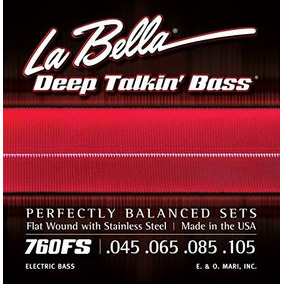 Acero Inoxidable Labella 760fs Bajo Eléctrico Cuerdas Medium