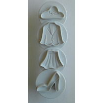 Cortadores Galleta Fondant Diseñadora De Modas Ropa Outfit