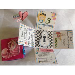 Invitación Infantil Alicia En El Pais De Las Maravillas Caja