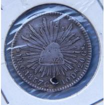 Moneda 1 Real Culiacán 1857 Águila Sonora Plata Escasa