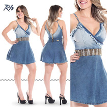 Vestido Jeans Rhero Original Estilo Pitbull Pitbull