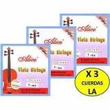 Cuerdas X 3 (la) Para Viola Marca Alice