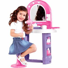 Penteadeira Infantil Miss Glamour Calesita + 14 Acessórios