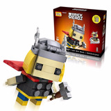 Thor Marvel Envío Gratis! Brick Headz Miniblocks Armables 3d