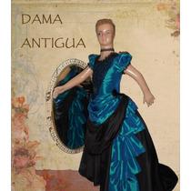 Vestido Traje Disfraz De Dama Antigua