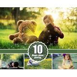 10 Magic Shine Photoshop Overlays Profesional !!