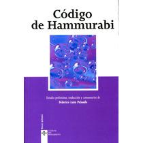 Codigo De Hammurabi - Anonimo / Tecnos