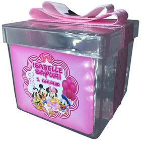 20 Caixinhas Acríl. Minnie Baby Lembrancinhas Personalizadas