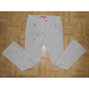 Union Bay Jeans Beige Pana Delgada Acampanados Talla 3
