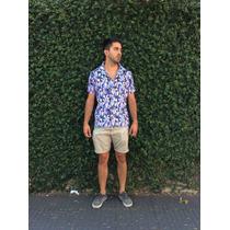 Camisa Floreada De Hombre Crisantemo Flores Verano