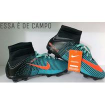 Chuteira Nike Bota Cano Longo Alto Campo Barato Brinde