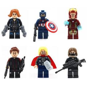 Kit Vingadores - Capitão América, Homem De Ferro, Thor