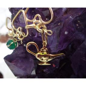 Pingente Lâmpada Aladin Gênio Em Ouro 18k!