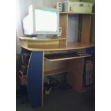 Computadora Con Mesa Para Pc + Multifunción Hp