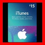 Itunes Apple Card $15 Para Ipod Iphone Tarjeta Prepago