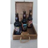 3 Cervejas Especial Artesanal Grambier Na Caixa De Madeira