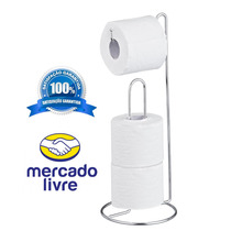 Suporte Porta Papel Higienico Cromado + Barato!