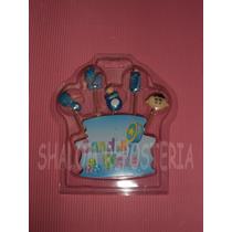 *kit 5 Velitas Velas Baby Shower Nino Bebe Cupcake Pastel*