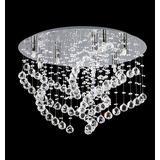 Plafon 6 Luces Con Caireles Cristal Led Alave Corto