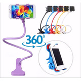Base Soporte Flexible Pinza Celular Iphone Universal 360°