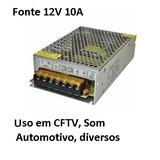 Fonte 12v 10a Cftv Câmera Som Automotivo Bancada Fita Led