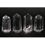 Set 6 Cristales Pulidos Obelisco 4 A 4.5cm Cuarzo Cristal