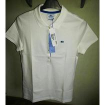 Camisa Polo Feminina Marca Famosa Branca /p/ M Importada.
