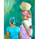 Cuadros Reproduccion Pinturas Arte Negras Africanas 19x25