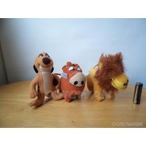 Tres Peluches Chicos El Rey León Timón Y Pumba Disney Dy156