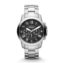 Reloj Fossil Grant Chronograph Acero Fs4736p Envio Gratis
