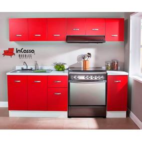 Cocina Integral Minimalista 2.40m Gabinete Alacenas Cubierta