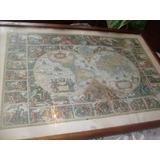 Vendo Cuadro Del Mapa Mundi Antiguo