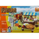 Blocos De Montar Barraca Fazenda Farm 147 Peças Tipo Lego
