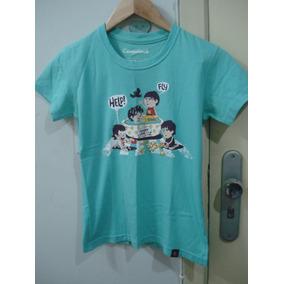 Camiseta Azul Feminina Beatles Camiseteria P Liverpool Kids