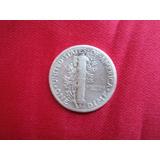 Usa 1 Dime 1938 Plata