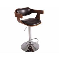 Bancos Giratorios De Vinipiel Con Madera By Comfort Sit