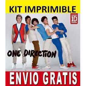 Kit Imprimible One Direction Diseñá Tarjetas, Cumples Y Más!