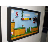 Quadro Diorama Expositor Mario World - Games Actions Figures