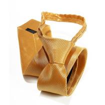 Gravata Adulto Trabalhada Dourada Para Formatura Padrinhos