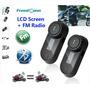 Intercomunicador Bluetooth Moto Capacete 2 Centrais + Fm