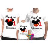 Kit Com 3 Peças/ Camiseta - Camisa Personalizada Mickey - A3