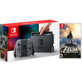 Nintendo Switch Con Juego Zelda Breath Of The Wild Estuche