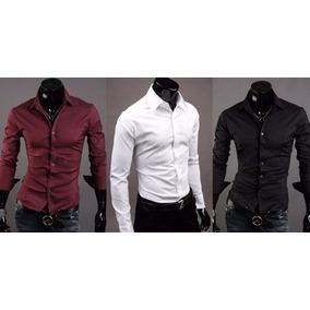 Camisa De Vestir - Slim Fit - 15 Bodas Fiesta O Laboral