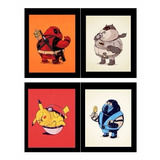 Quadro Super Herois Gordinhos Series Filmes Pop Decorativo
