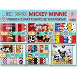 1 Kit Imprimible X 6 Mickey Minnie Disney Imagenes Clipart