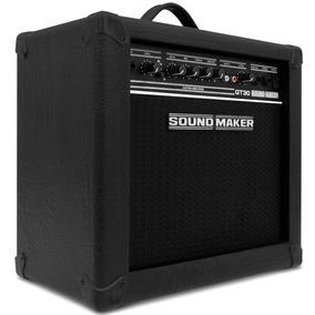 Caixa Amplificada Guitarra Gt-30 30w Rms Preta Sound Maker