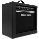 Caixa Amplificada Guitarra Para Bandas Som 30w Preta Sound M