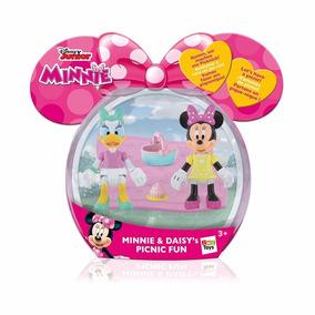 Figuras Articuladas Minnie Daisy Playset Dia Picnic Educando